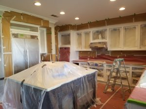 During: White refinish with custom design